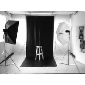 Tecido Infinito Estúdio Fotográfico Preto 6x2,70