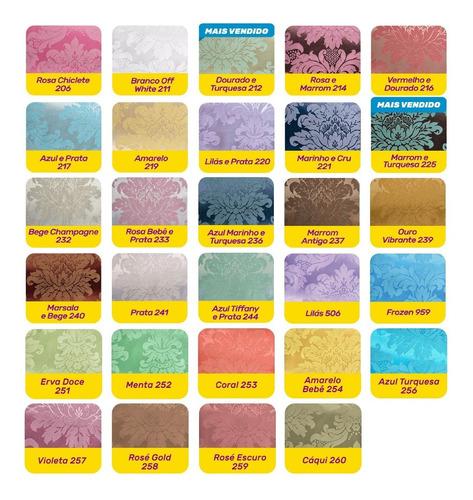 tecido jacquard 3m x 2,8m para decoração cor a escolher