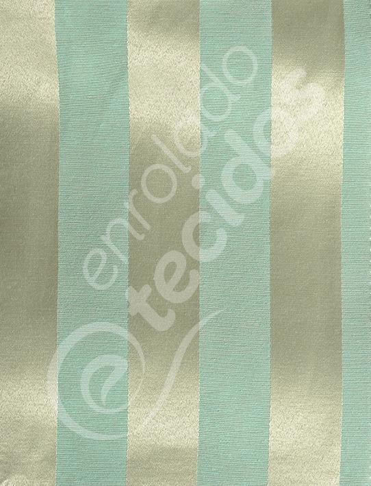 8b5fd132bfad9 Tecido Jacquard Azul Tiffany E Dourado Listrado 3m X 2