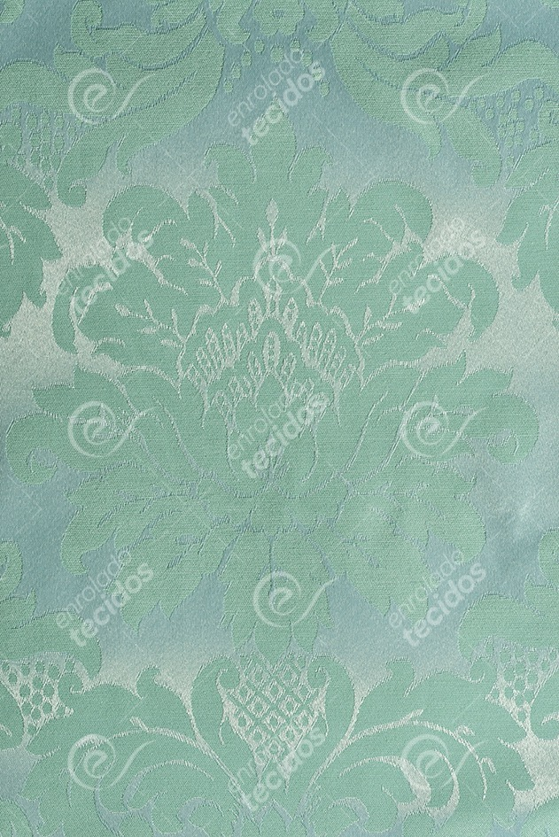0ba2264c0d8a3 Tecido Jacquard Azul Tiffany E Prata Adamascado 1m X 2