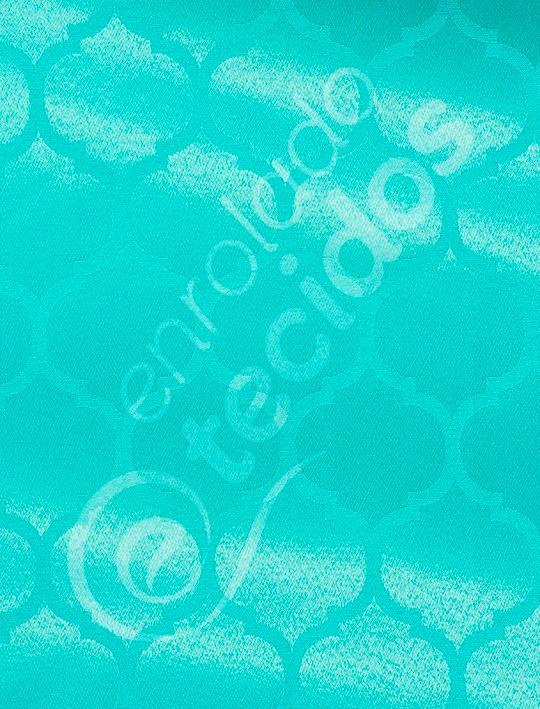 f7dd2834158ee Tecido Jacquard Azul Tiffany Geométrico 1m X 2