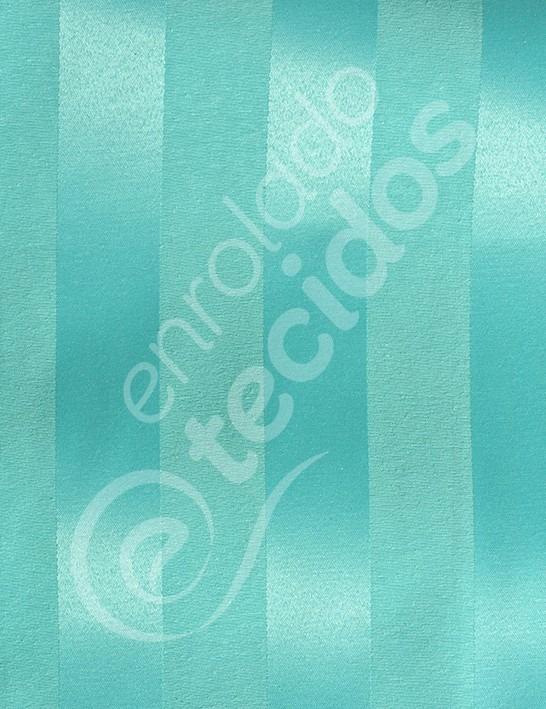 11fa36edafcb5 Tecido Jacquard Azul Tiffany Listrado 5m X 2