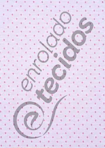 tecido jacquard fio tinto rosa e branco poá 10m x 2,8m