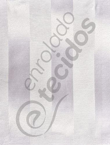 tecido jacquard listrado prata 1m x 2,8m para decoração
