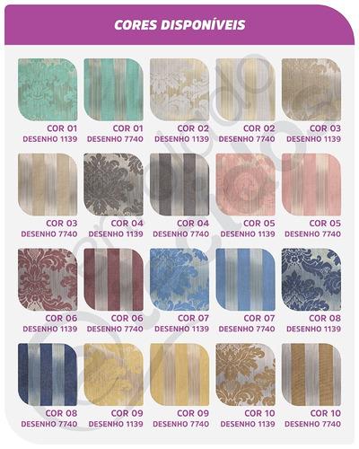 tecido jacquard luxo azul tiffany medalhão rolo 50m x 2,8m