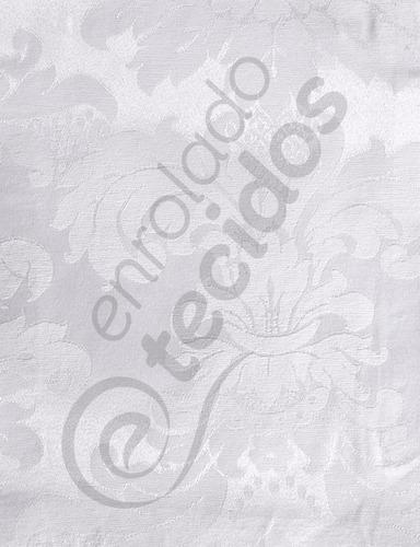 tecido jacquard medalhão branco 2,8m x1m p/ toalhas parede