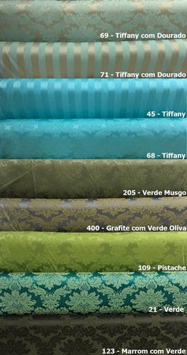 tecido jacquard  para decoração 1x2.80 escolha a cor
