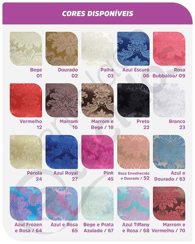 tecido jacquard para decoração diversas cores 1m x 2,8m