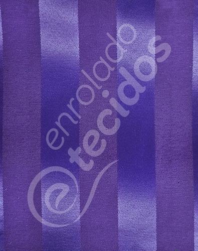 tecido jacquard roxo listrado 10m x 2,8m para decoração