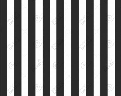 tecido jacquard tinto listrado preto branco painel 2,8m x 1m