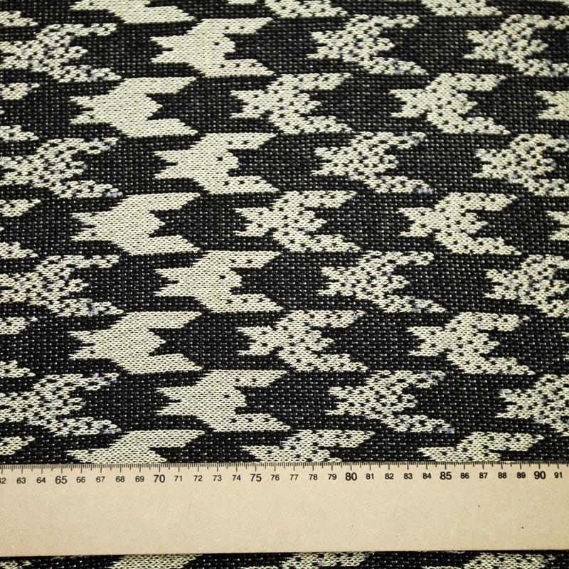 5dd3e64cd tecido malha trico laminado preto e dourado pied-de-coq. Carregando zoom.