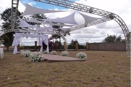 tecido para decoração festas de casamento malha tensionada