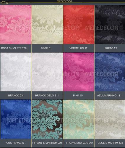 tecido para decoração jacquard diversas cores 11,5m x 2,80m