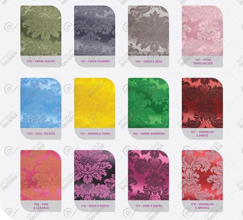 tecido para decoração jacquard diversas cores 5m x 2,8m