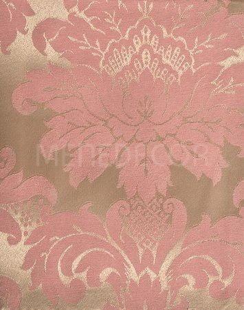 tecido para decoração jacquard rosa e dourado 10m x 2.80m