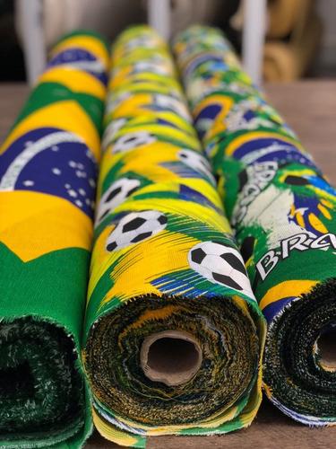 tecido para decoração jacquard verde bandeira 10m x 2.80m