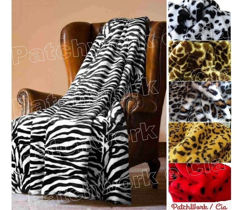 4a2e50659ae4b4 Tecido Pelúcia P Chinelos Pantufas 50cm X 1,60 Onça Zebra