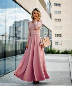 6e0acbd7c Vestido De Renda Em Cima E Rosa Em Baixo - Calçados