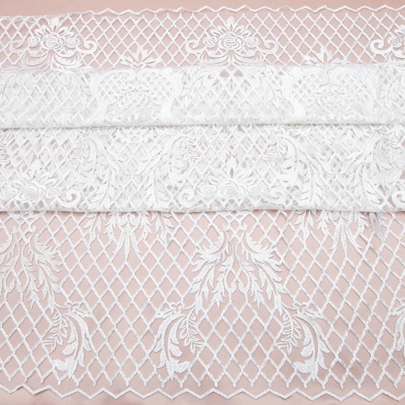 ee3b13d97 Tecido Renda Tule Bordado Arabesco Branco - R$ 159,00 em Mercado Livre