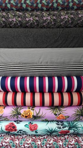 tecido suplex 3 metros várias cores liso estampado listrado