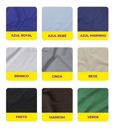 tecido tricoline liso para máscaras 100% algodão 1m x 1,5m