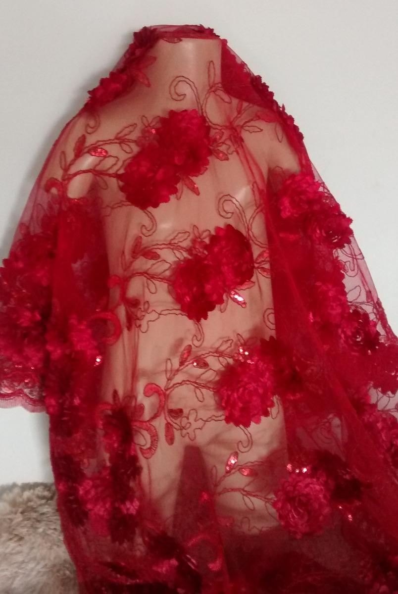 e02d17b5f tecido tule bordado - ideal para vestidos de festa luxo. Carregando zoom.