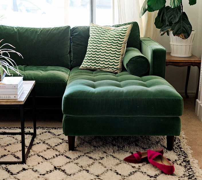 Tecido Veludo Verde Escuro Para Sofas Poltronas Estofar R 34 00