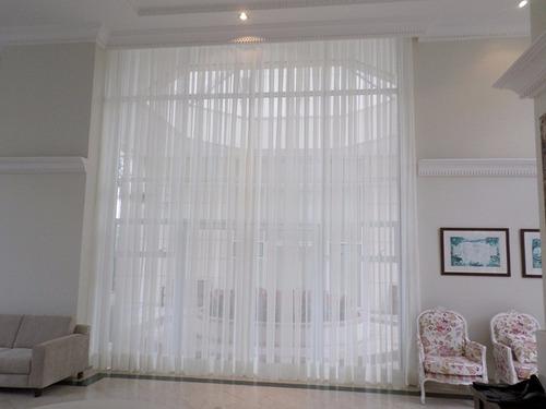 tecido voal branco liso p/ cortina 15m c/ 3m largura