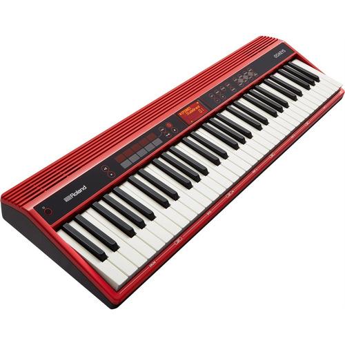 teclado 61 teclas go61k midi bluetooth roland com fonte