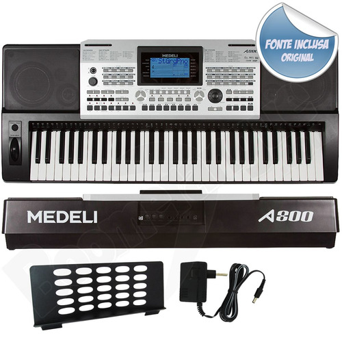 teclado 61 teclas sensitivas a800 medeli midi