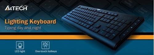 teclado a4tech gamer kd-600l iluminado led usb semi mecanico
