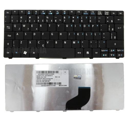 teclado acer aspire one 521 532h 533 d255 d260 com ç novo
