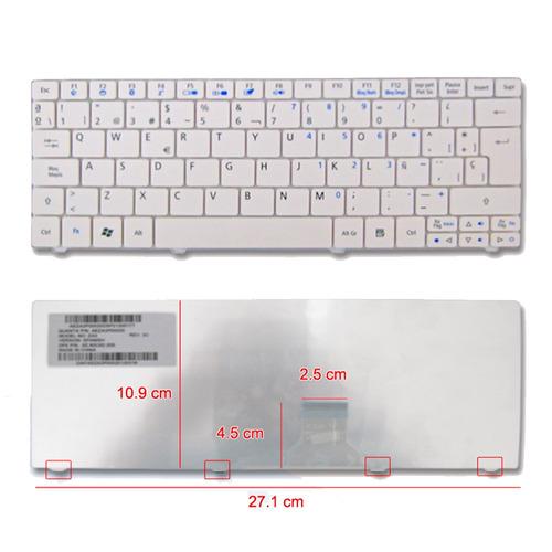 teclado acer one 751h 751 za3 11.6 blanco español nuevo bbf