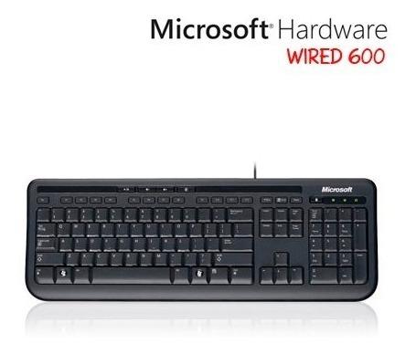 teclado alámbrico microsoft 600 usb anb-00004 multimedia