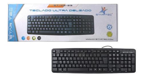 teclado alambrico star tec st-kb-03 negro