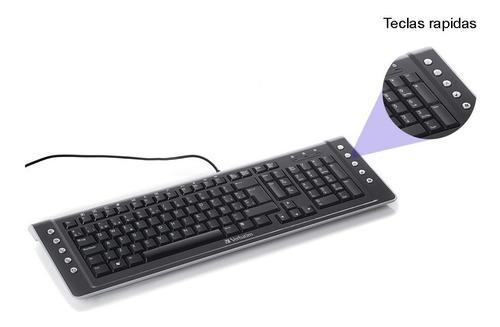 teclado alambrico usb pc  verbatim windows mac 96780