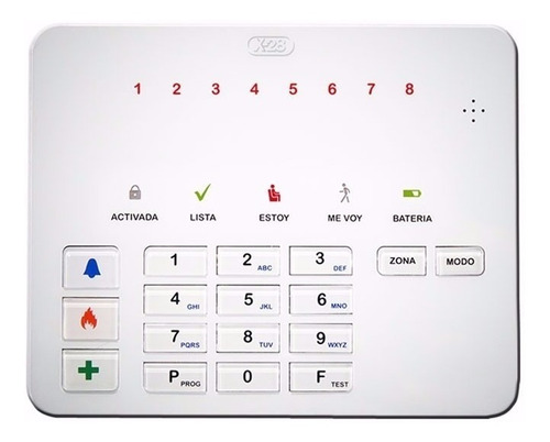teclado alarma x-28 t8l mpxh 8zona sms hablado