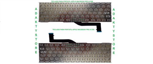 teclado apple macbook pro a1398
