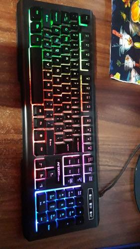 teclado argom combat gaming negro - semimecanico