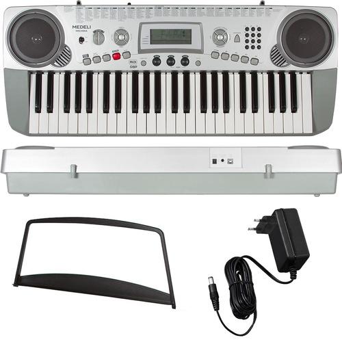 teclado arranjador 49 teclas mc49a usb midi medeli com fonte
