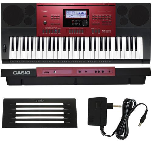 teclado arranjador 61 teclas ctk-6250 casio com fonte