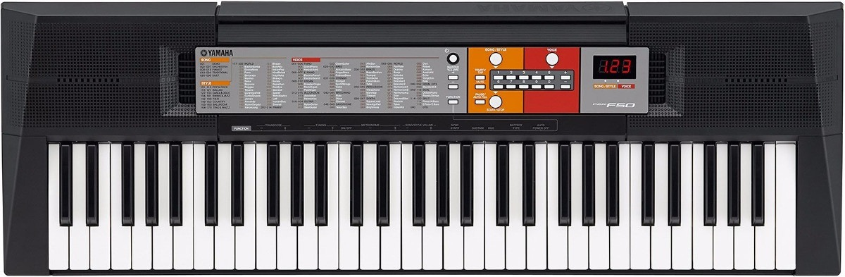 teclado arranjador musical psr f50 yamaha c fonte bivolt r 449 69 em mercado livre. Black Bedroom Furniture Sets. Home Design Ideas