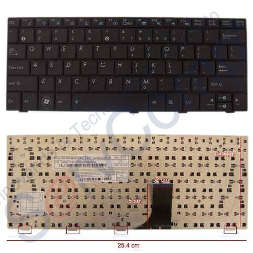teclado asus epc shell 1005ha,1008ha servcomp_de_méxico bbf