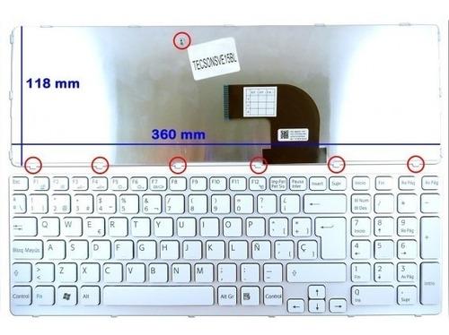 teclado blanco/negro para sony vaio sve15 y sve17 series