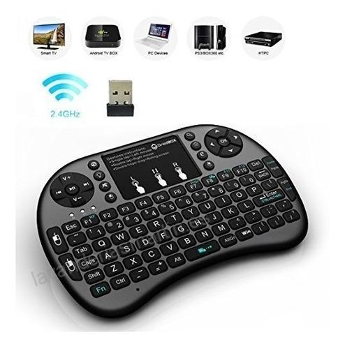 teclado bluethooth retroiluminado androit tv box pc