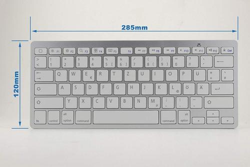 teclado bluetooth apto para pc tablet smartphone ipad iphone