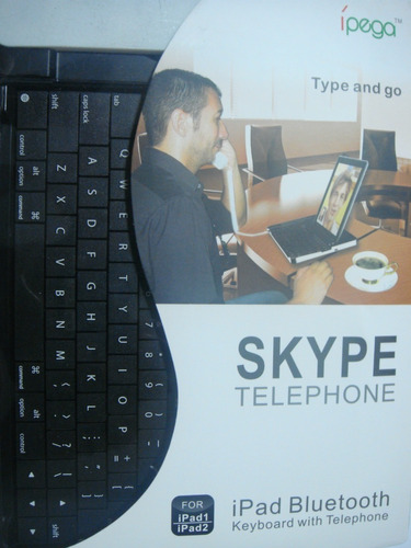 teclado bluetooth e telefone para skype ipad 1 e 2 / iphone