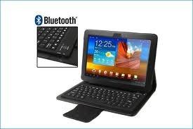 teclado bluetooth + estuche universal galaxy lg sony acer hp