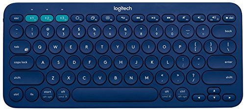 teclado bluetooth multi-dispositivo k380 (azul)
