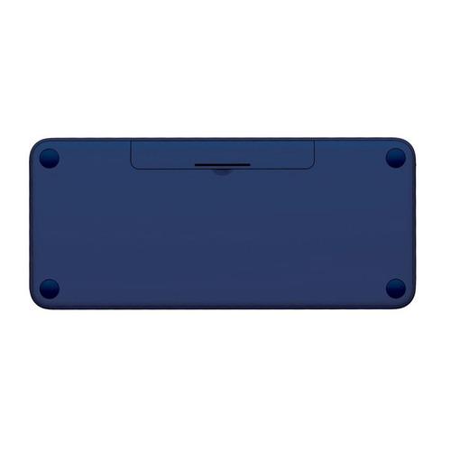 teclado bluetooth multi-dispositivo logitech k380 - azul